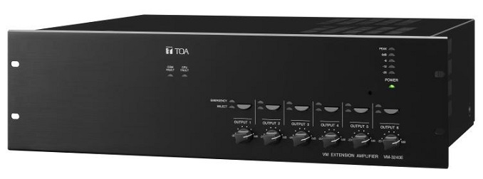 Mixer Amplifier 240W chọn 6 vùng loa TOA VM-3240VA