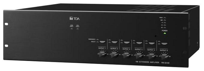 Ampli mở rộng 360W chọn 6 vùng loa TOA VM-3360E