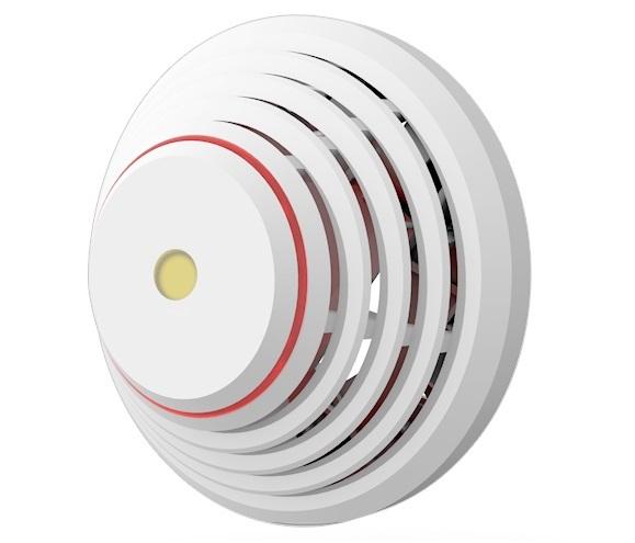 Cảm biến nhiệt và khói kết hợp có dây và còi báo động tích hợp JABLOTRON SD-283ST