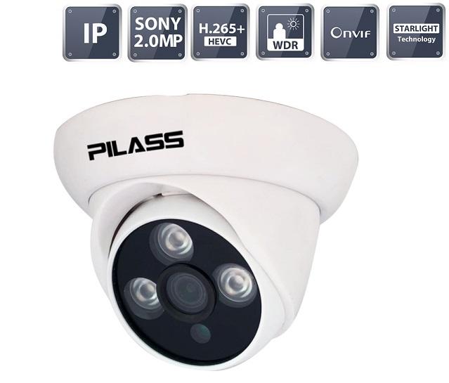 Camera IP Dome hồng ngoại 2.0 Megapixel PILASS ECAM-H501IP 2.0
