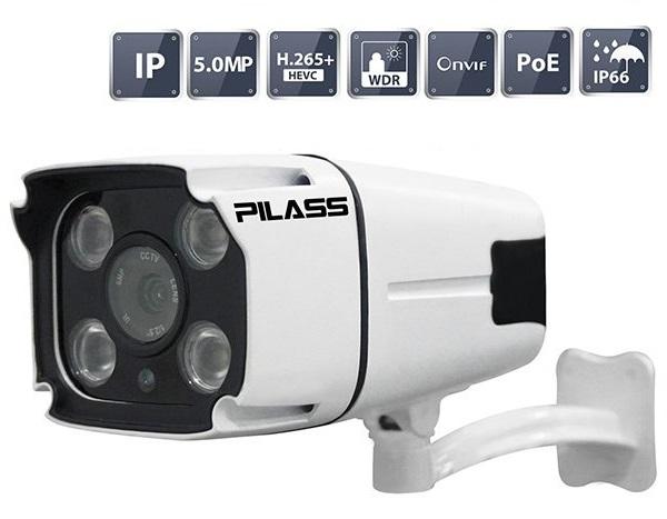 Camera IP hồng ngoại 5.0 Megapixel PILASS ECAM-P702IP 5.0