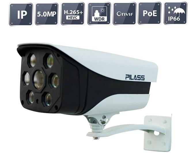 Camera IP hồng ngoại 5.0 Megapixel PILASS ECAM-P802IP 5.0