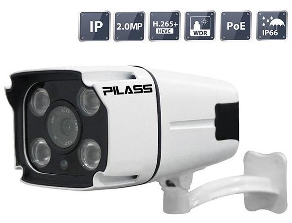 Camera IP hồng ngoại 2.0 Megapixel PILASS ECAM-PA702IP 2.0