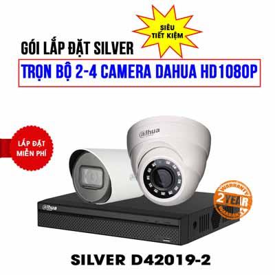 Trọn bộ 2 camera DAHUA HD1080P cho công ty