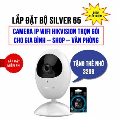 Camera Wifi cho gia đình Hikvision HKI-2U01EFD-IW trọn gói Silver 65