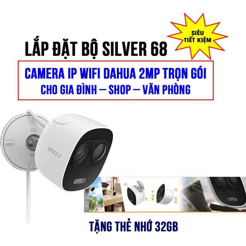 Lắp đặt camera Wifi LOOC C26EP trọn gói SILVER 68