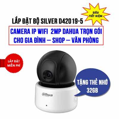 Lắp đặt camera Wifi 2MP DAHUA DHI-A22P giá rẻ (SILVER D42019-5)