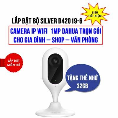 Lắp đặt camera IP Wifi 1MP DAHUA DHI-C12P giá rẻ (SILVER D42019-6)