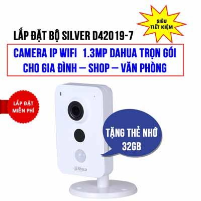 Lắp đặt camera Wifi 1.3MP DAHUA DHI-K15P giá rẻ (SILVER D42019-7)