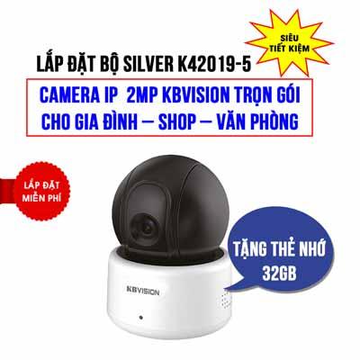 Lắp đặt camera Wifi 2MP KBVISION KBI-H20PWN cho gia đình (SILVER K42019-5)