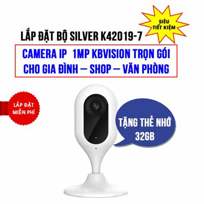 Lắp đặt camera Wifi Cube KBVISION KBI-H10WN giá rẻ (SILVER K42019-7)