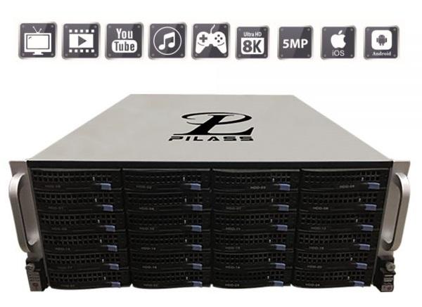 Server ghi hình thông minh 128 kênh PILASS SNVR-ST812824