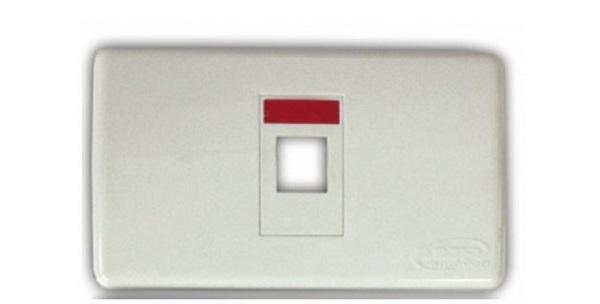 Mặt bếp 1 cổng Faceplate Kit Shutter COMMSCOPE