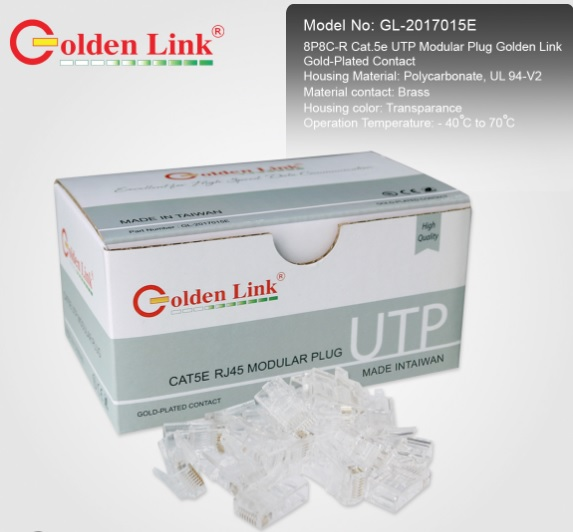 Đầu cắm từ xa-Modular Plug Golden Link PLATINUM CAT5E UTP