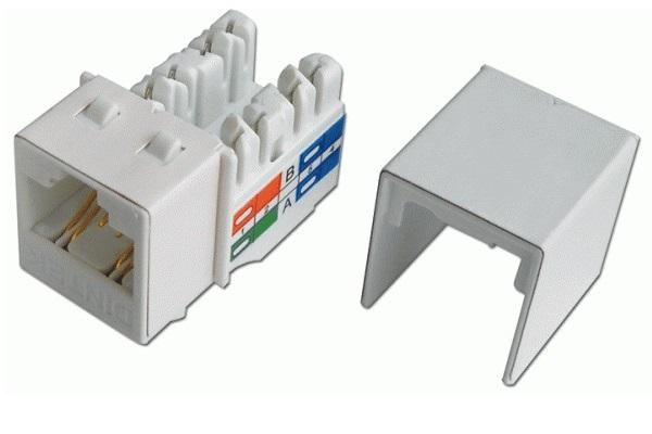 Modular Jack-Socket Dintek CAT.6A Keystone Jack, T568A / B ( 1305-05001)