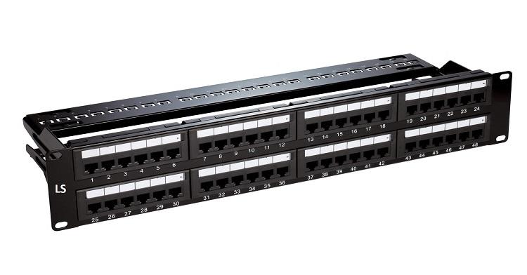 Bảng điều khiển trống 48 cổng với quản lý dây Loại kim loại cho Shielded