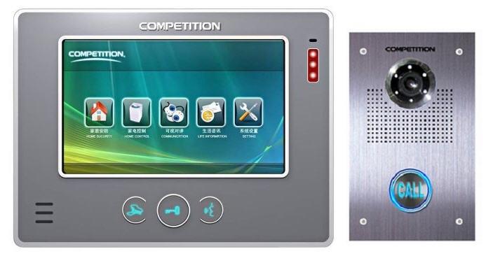 Bộ màn hình màu chuông cửa COMPETITION MT-810 C-CK2/ SAC-551C