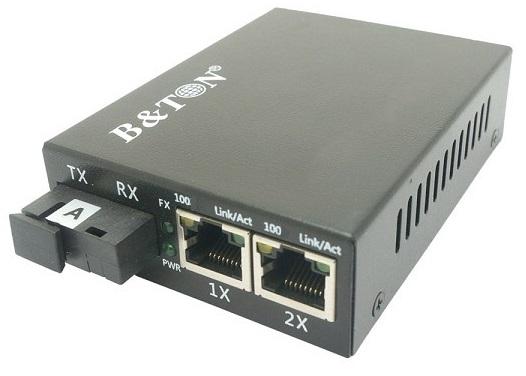 Chuyển đổi truyền thông Quang-Điện Truyền chuyển đổi không được quản lý BTON BT-912SM-20A / B