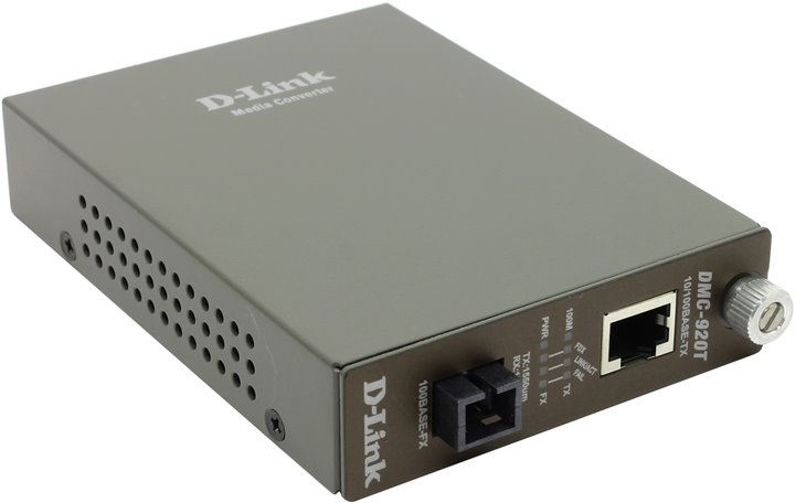 Bộ chuyển đổi đa phương tiện 10 / 100Base-TX sang 100Base-FX D-Link DMC-920T