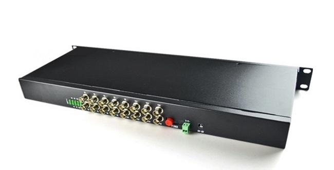 Chuyển đổi video HDTEC chuyển đổi video 16 Cổng BNC + Dữ liệu RS485 Cho Camera Analog
