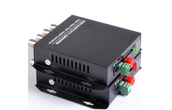 Chuyển đổi dữ liệu Quang HDTEC Video Converter 4 Cổng BNC + RS485 Dữ liệu