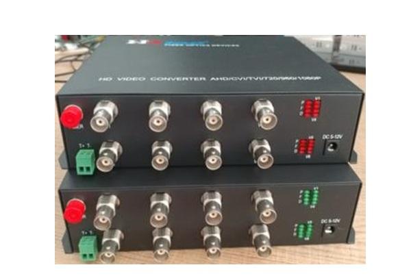 Chuyển đổi dữ liệu Quang HDTEC Video Converter 8 Cổng BNC + RS485 Dữ liệu