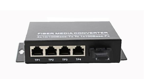 Bộ chuyển đổi đa phương tiện 10 sợi quang 100/100 / 1000M MẠNG NO-MCF-GSM20 / 4E