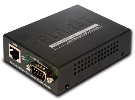 RS-232 / RS-422 / RS-485 qua Bộ chuyển đổi đa phương tiện Ethernet nhanh PLANET ICS-100
