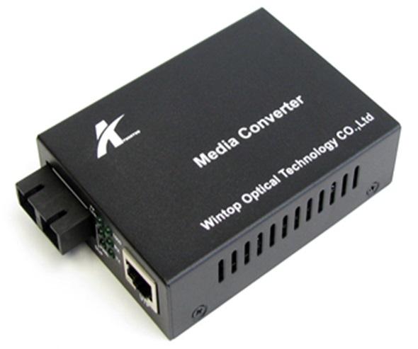 Chuyển đổi phương tiện Ethernet Ethernet Quang-Điện Gigabit Ethernet WINTOP YT-8110GSA-11-40-AS