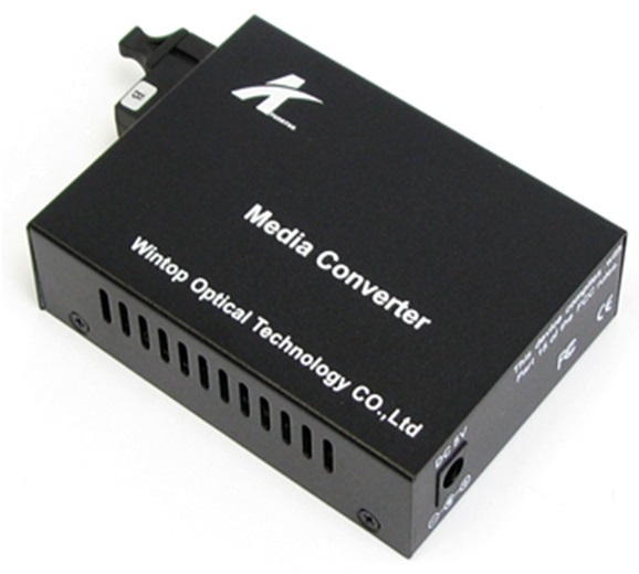 Optical / Power Converter 10/100 / 1000Mbps Gigabit Ethernet Media Converter WINTOP YT-8110GSB-11-20A-AS