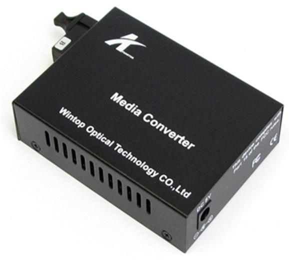 Bộ chuyển đổi phương tiện truyền thông Gigabit Ethernet 10/100 / 1000Mbps WINTOP YT-8110GSB-11-20B-AS