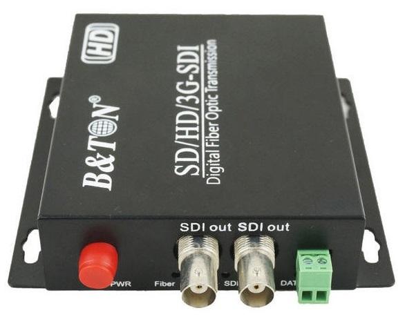 Bộ chuyển đổi video Quang-điện tử 1 bộ chuyển đổi HD-SDI BTON BT-HDSDI1VF-T / R