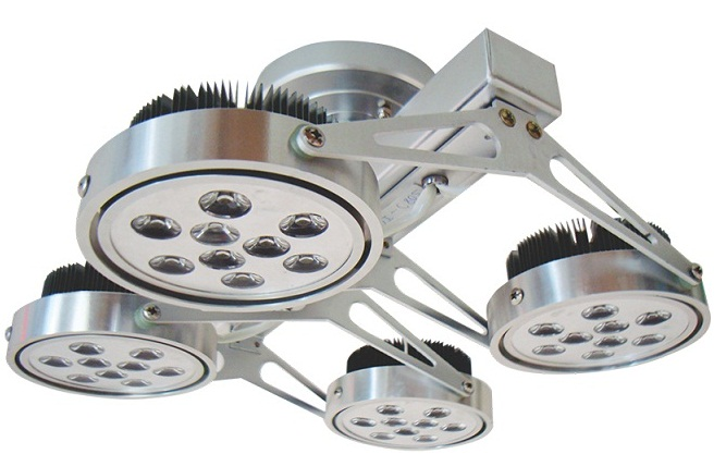 4x12W DUHAL AIC806 ceiling mount LED spotlight
