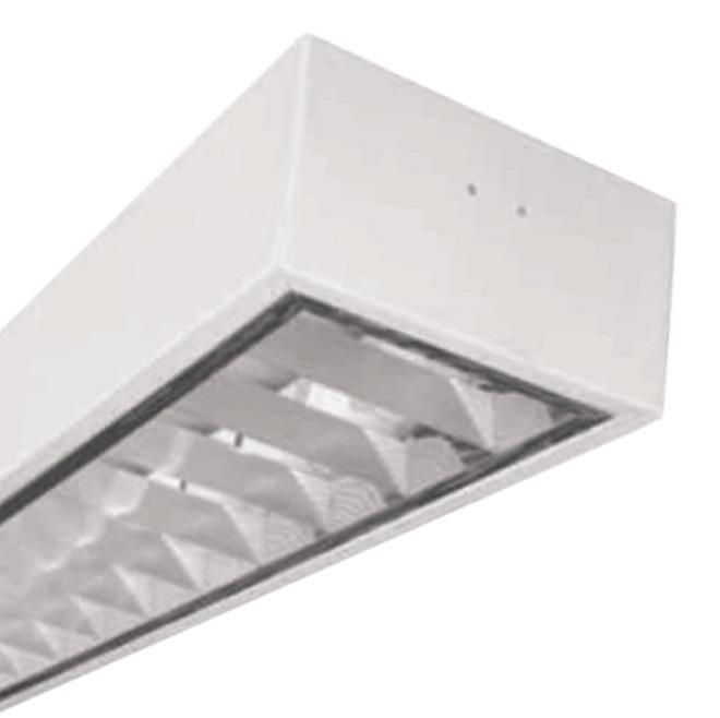 Máng đèn LED phản quang gắn âm trần 1x18W DUHAL LDD 140
