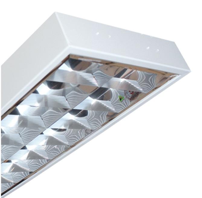 Máng đèn LED phản quang gắn âm trần 2x9W DUHAL LDD 220