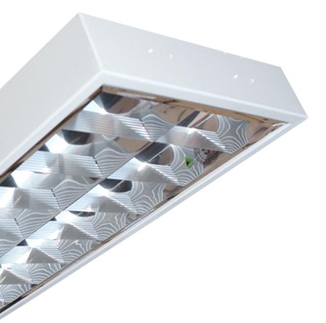 Máng đèn LED phản quang gắn âm trần 2x18W DUHAL LDD 240