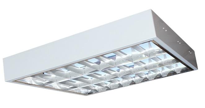 Máng đèn LED phản quang gắn nổi 3x9W DUHAL LDD 320