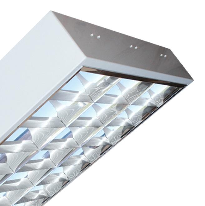 Máng đèn LED phản quang gắn nổi 3x18W DUHAL LDD 340
