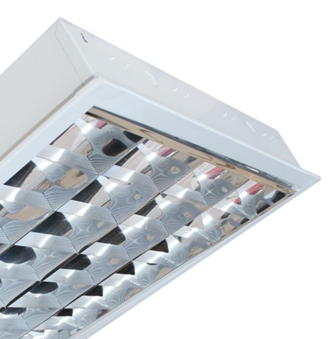 Máng đèn LED phản quang gắn âm trần 4x18W DUHAL LDD 440