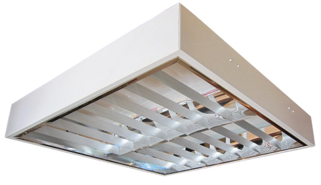 Máng đèn LED phản quang gắn trần 2x9W DUHAL LDD 6220