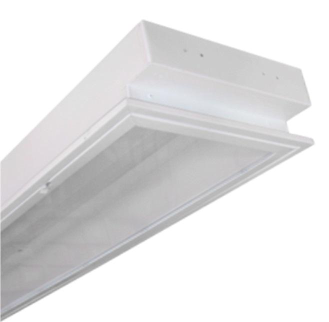 Máng đèn LED tán quang gắn âm trần 2x9W DUHAL LLA 220