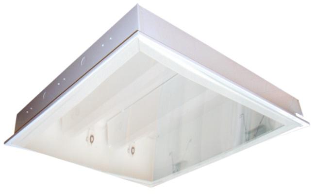 Máng đèn LED tán quang gắn âm trần 3x9W DUHAL LLA 320