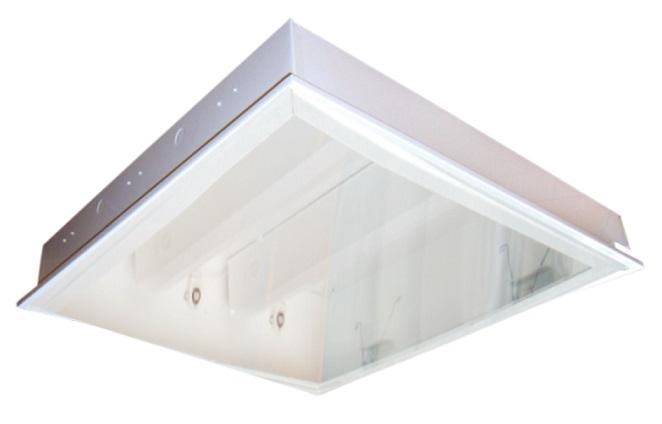 Máng đèn LED tán quang gắn trần 4x9W DUHAL LLA 420