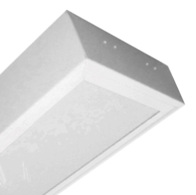 Máng đèn LED tán quang gắn nổi 2x18W DUHAL LLN 240