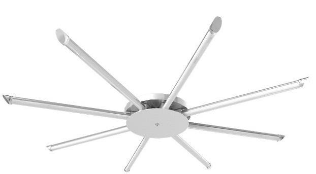 Đèn LED ốp trần 8x9W DUHAL SDFB508