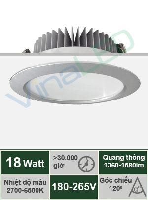 Đèn LED âm trần 18W VinaLED DL-E18S