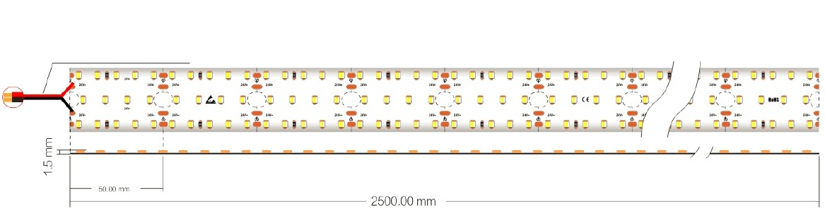 Wire LED 25W VinaLED FSB-2835-IP33-L280