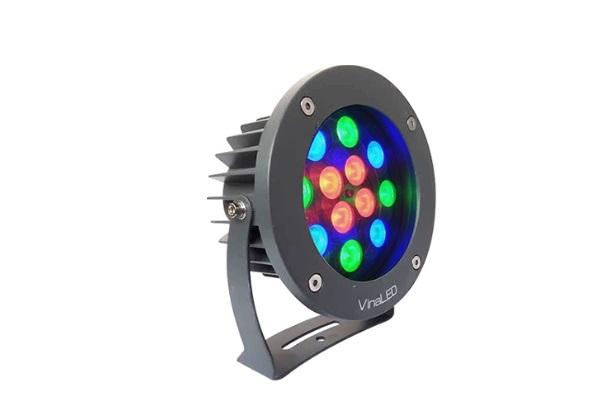 Đèn Led chiếu điểm 12W đa sắc VinaLED OS-BG12R 24VAC (đa sắc độc lập)