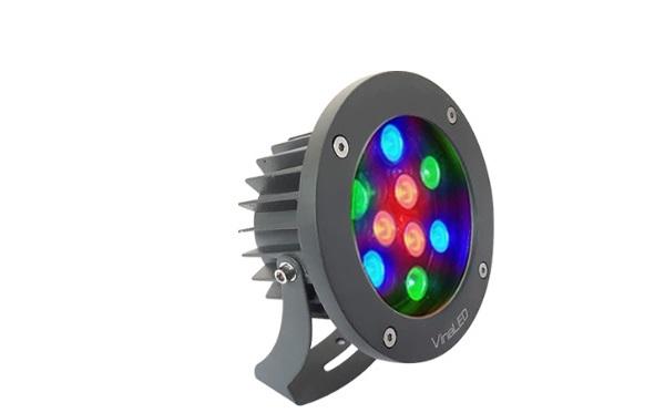 Đèn Led chiếu điểm 9W đa sắc VinaLED OS-BG9R 220VAC (đa sắc độc lập)