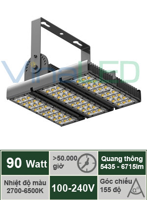 Đèn LED đa năng 90W VinaLED TN-A90H